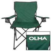 Deluxe Green Captains Chair-Athletic Wordmark
