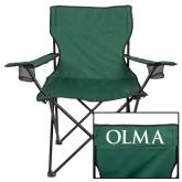 Deluxe Green Captains Chair-OLMA Wordmark