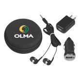 3 in 1 Black Audio Travel Kit-Primary  Athletic Mark