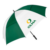 62 Inch Forest Green/White Umbrella-Primary  Athletic Mark
