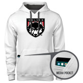 Contemporary Sofspun White Hoodie-Wolves Shield
