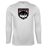 Performance White Longsleeve Shirt-Wolves Shield