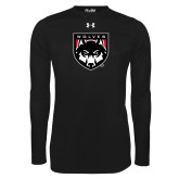 Under Armour Black Long Sleeve Tech Tee-Wolves Shield