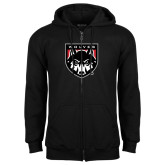 Black Fleece Full Zip Hoodie-Wolves Shield
