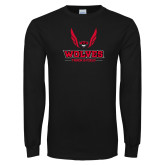 Black Long Sleeve T Shirt-Track and Field Wings