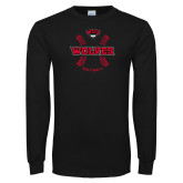 Black Long Sleeve T Shirt-Softball Seams