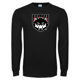Black Long Sleeve T Shirt-Wolves Shield