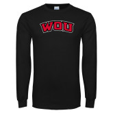 Black Long Sleeve T Shirt-WOU