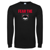 Black Long Sleeve T Shirt-Fear The Wolves