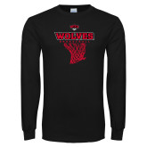Black Long Sleeve T Shirt-Basketball Net