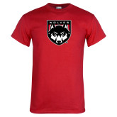 Red T Shirt-Wolves Shield