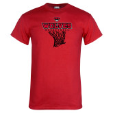 Red T Shirt-Basketball Net