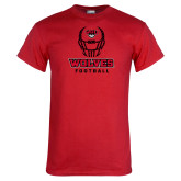 Red T Shirt-Football Helmet