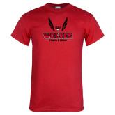 Red T Shirt-Track and Field Wings