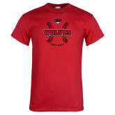 Red T Shirt-Softball Seams