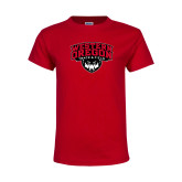 Youth Red T Shirt-Track and Field