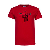 Youth Red T Shirt-Basketball Net