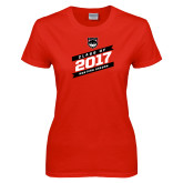 Ladies Red T Shirt-Class of…, Personalized year
