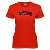 Ladies Red T Shirt-WOU