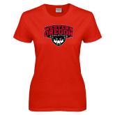 Ladies Red T Shirt-Athletics
