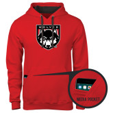 Contemporary Sofspun Red Hoodie-Wolves Shield