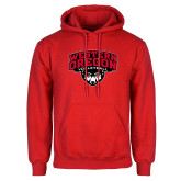 Red Fleece Hoodie-Volleyball