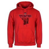 Red Fleece Hoodie-Basketball Net