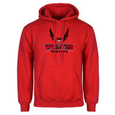 Red Fleece Hoodie-Track and Field Wings