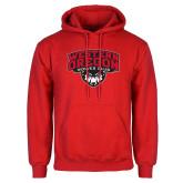 Red Fleece Hoodie-Wolves Club