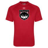 Under Armour Red Tech Tee-Wolves Shield