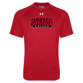 Under Armour Red Tech Tee-Word Mark Arched