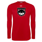 Under Armour Red Long Sleeve Tech Tee-Wolves Shield