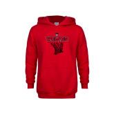 Youth Red Fleece Hoodie-Basketball Net