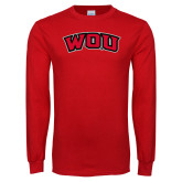 Red Long Sleeve T Shirt-WOU