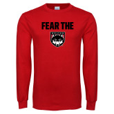 Red Long Sleeve T Shirt-Fear The Wolves
