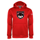 Under Armour Red Performance Sweats Team Hoodie-Wolves Shield