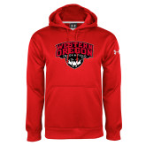 Under Armour Red Performance Sweats Team Hoodie-Track and Field