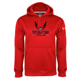 Under Armour Red Performance Sweats Team Hoodie-Track and Field Wings