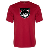 Performance Red Tee-Wolves Shield