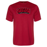 Performance Red Tee-Word Mark Arched
