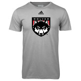 Adidas Climalite Sport Grey Ultimate Performance Tee-Wolves Shield
