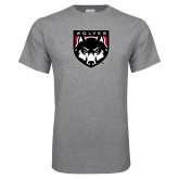 Grey T Shirt-Wolves Shield