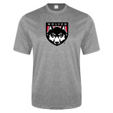 Performance Grey Heather Contender Tee-Wolves Shield
