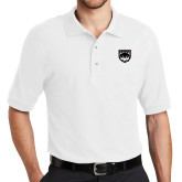 White Easycare Pique Polo-Wolves Shield