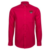 Red House Red Long Sleeve Shirt-Wolves Club