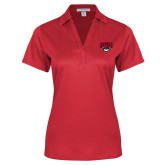 Ladies Red Performance Fine Jacquard Polo-Wolves Club