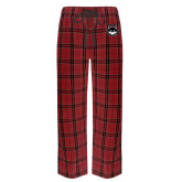 Red/Black Flannel Pajama Pant-Wolves Shield