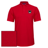 Red Dry Zone Grid Polo-Wolves Shield