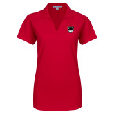 Ladies Red Dry Zone Grid Polo-Wolves Shield