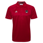 Adidas Climalite Red Jacquard Select Polo-Wolves Shield
